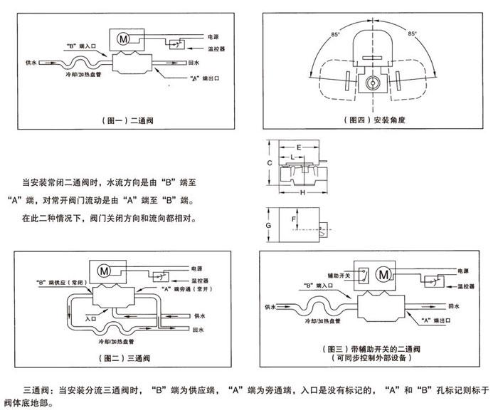 V4043系列电动二通阀